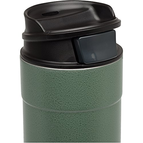 the Stanley Classic One Hand Vacuum Mug with its cap off