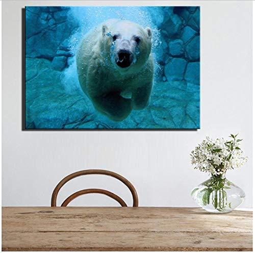 Caomei Zwembadposters voor kinderen, kamerdecoratie, moderne huisdecoratie, canvas schilderij voor woonkamer, 70 x 100 cm, zonder frame