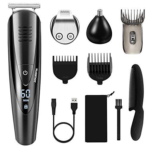 TOPERSUN Haarschneider Herren Haarschneidemaschine Drahtlos Bartschneider Body Hair Nasen- und Ohrenhaaren Trimmer Wasserdichter USB Wiederaufladbar 3 in 1
