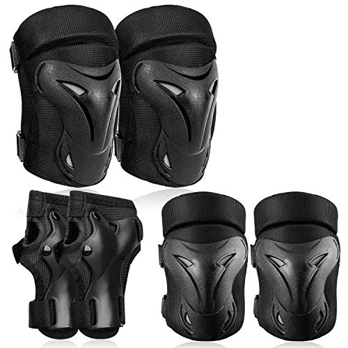 RUNDONG Kids/Youth Knee Pads Set, 6 in 1 Kit Protective Gear Knee Elbow Pads, Used for Roller Skates Bike BMX Bike Skateboard Inline Skatings Riding Sport, Toddler Wrist-guards, Palm Pads for Outdoor