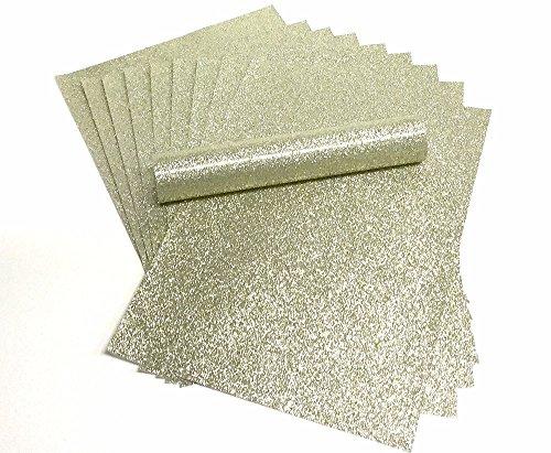 A4 Glitzer Papier blass Gold Sparkly Soft Touch Fusselfreier Dick 150 gsm Papier Pack 10 Blatt