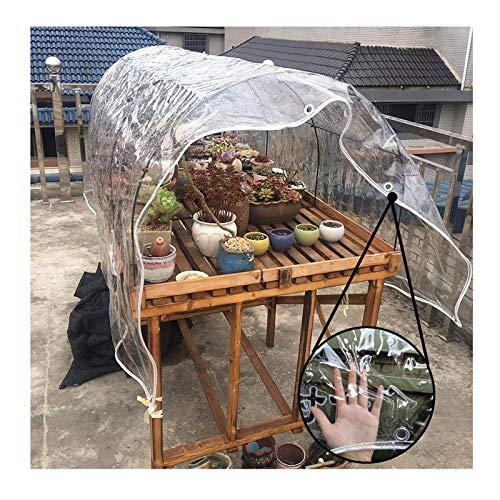 Lona MYAN Impermeable, Toldo Transparente PVC Transparente para Al Aire Libre De Madera Pérgola Lluvia Proteccion Claro El Plastico Película, 420G/M² (Color : Clear, Size : 3M X 4M)