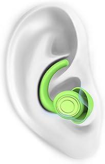 Ear Plugs for Sleeping Noise Cancelling, 2 Pairs Reusable Earplugs Sound Blocking Sleeping Soft Silicone Noise Reduction Ear Plugs for Sleep Snoring Concerts Study Travel Sensory Sensitivity, Green