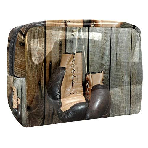 TIZORAX Gants de boxe en bois pour les cosmétiques et les cosmétiques - En PVC - Trousse de toilette de voyage - Organiseur pratique pour les femmes