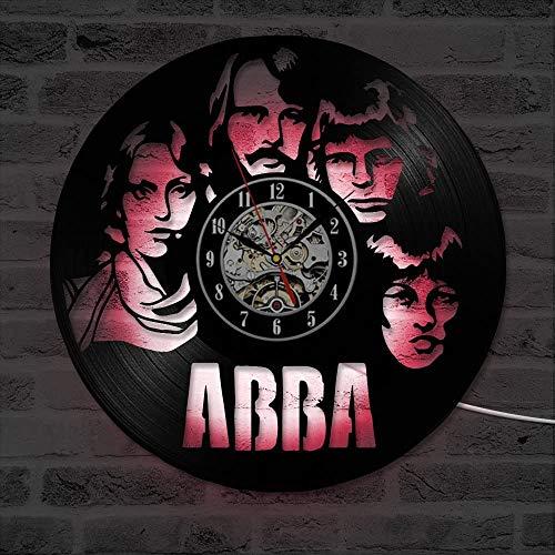 ABBA - Reloj de pared de discos de vinilo para decoración de...