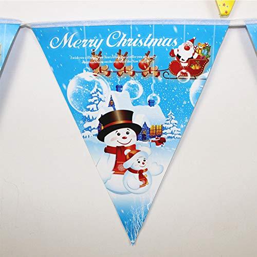 DishyKooker Weihnachtsdekorations-Flagge für Einkaufszentrum-hängende Anordnung Blauer Papierwimpel