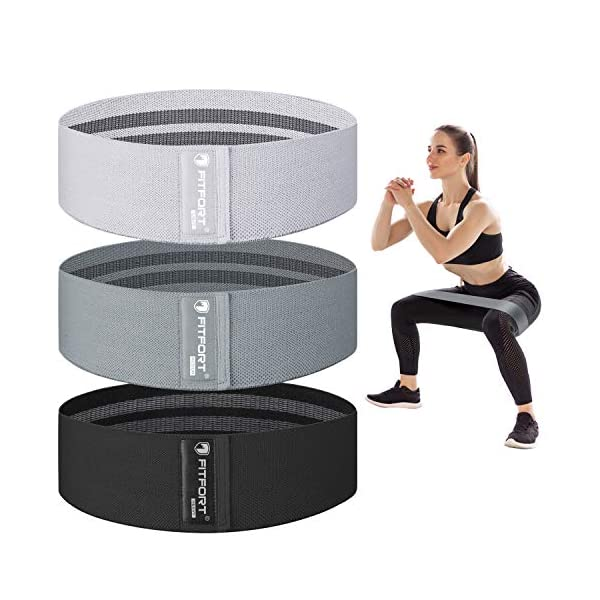 Resistance Bands for Legs and Butt Exercise Bands – Non Slip Elastic Booty...