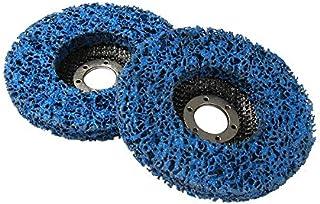 DZF697 2pcs 125mm 115mm 5 Pouces 46grit meulage de meule de meulage de meuleuse d'angle Outils abrasifs Violet Noir Bleu (...