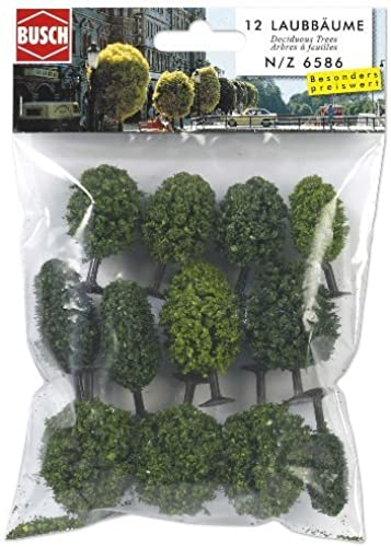 N Scale Deciduous Trees Assrt 12  by Busch