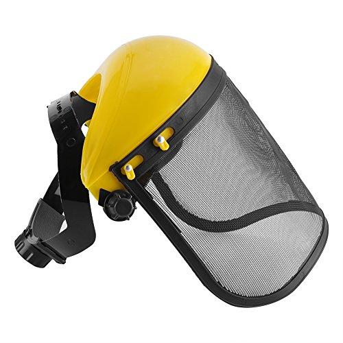 Mesh-Schutzhelm Sicherheit Helm Hut Voll Gesicht Schild Schutz mit Verstellbarem Mesh Visier für Kettensäge Gartenarbeit Protokollierung Freischneider Forstwirtschaft