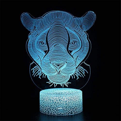 Leopardo 3D luces lámpara de dinosaurio 16 colores cambiantes LED lámpara de noche con Smart Touch características para niños niñas edad 2 3 4 5 6 7+ años de edad con regalos de Navidad