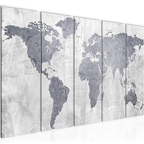 Bild Weltkarte Kunstdruck Vlies Leinwandbild Wanddekoration Wohnzimmer Schlafzimmer 104356c