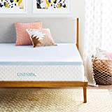 LINENSPA 2' Gel Infused Memory Foam Mattress Topper, Twin XL, Blue
