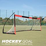 QuickPlay Ultra Portable 8x2' Field Hockey Goal | Includes Goal Net and Slim Line Carry Bag [Single Goal]