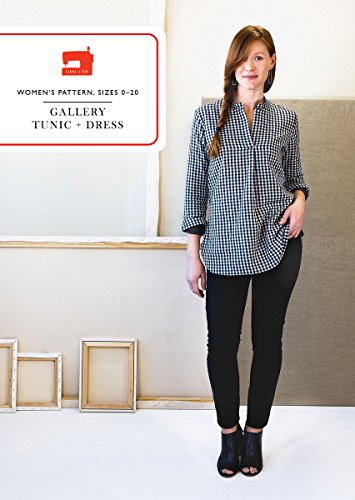 Gallery Tunic + Dress Sewing Pattern White