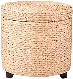 Oriental Furniture Rush Grass Storage Footstool - Natural