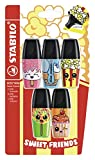 Marcador fluorescente STABILO BOSS MINI Sweet Friends - Pack con 5 colores - Edición Limitada