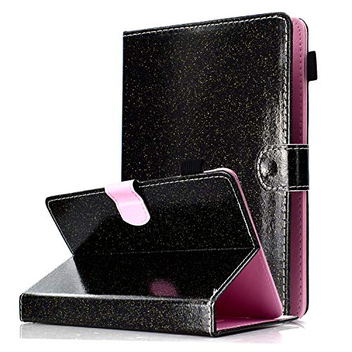 HereMore Universal Hülle Glitzer für 8.0 Zoll Tablet - Schutzhülle Case für iPad Mini 1/2/3/4, Samsung Galaxy Tab 4 8.0