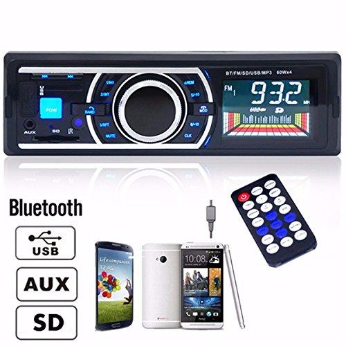 ELEGIANT 高品質カーオーディオBluetooth 車載MP3/WMA/WAV/対応USB/SD/MMC対応 FMトランスミッターハンズフリー通話