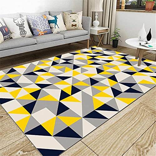 Alfombras de franela suave para dormitorio nórdico floral para el hogar, para sala de estar, dormitorio, alfombra rectangular grande antideslizante