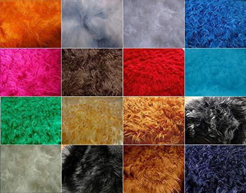 Fabrics-City MAUSGRAU LANGFLOR HOCHLANDRIND Fellimitat Teddy PLÜSCHSTOFF ZOTTELPLÜSCH MIKROFON Windschutz Fell Stoffe, 2709(mausgrau)