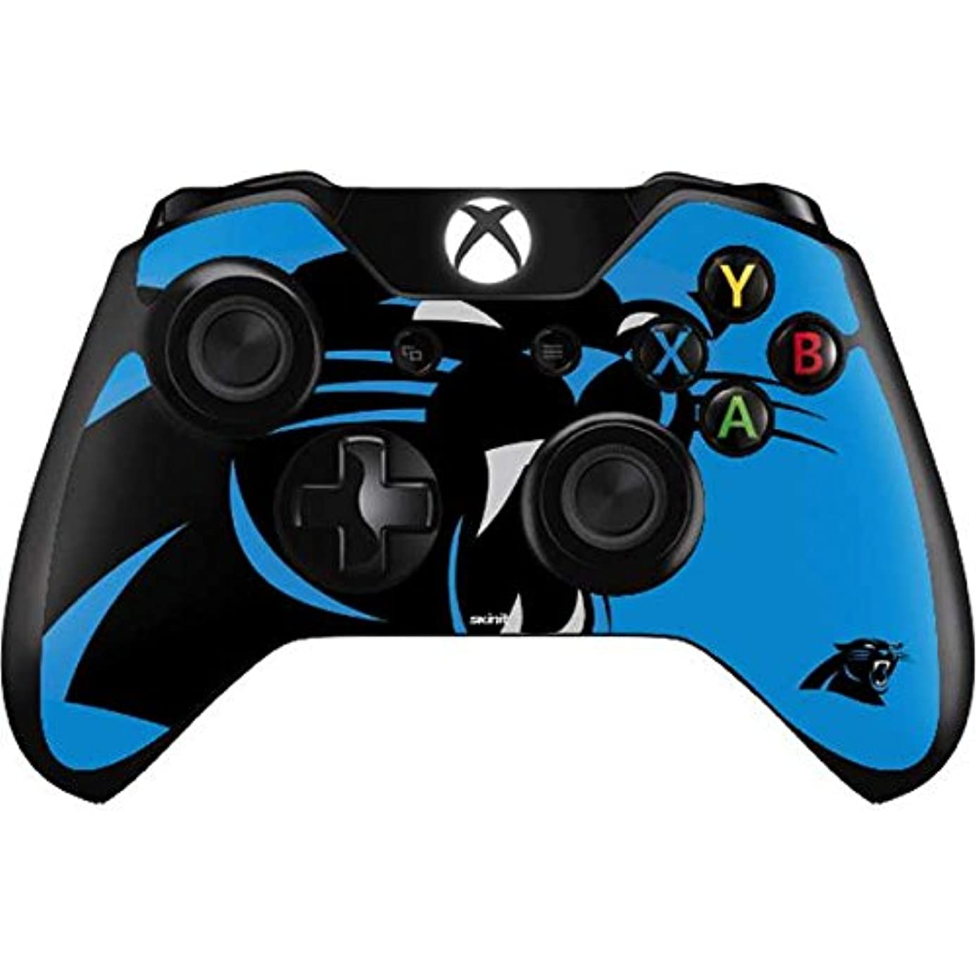 Skinit Carolina Panthers Large Logo Xbox One Controller Skin - Officially Licensed NFL Gaming Decal - Ultra Thin, Lightweight Vinyl Decal Protection