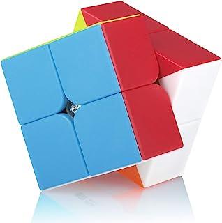 Speed Cube 2x2 2x2x2 Stickerless Magic Puzzle Cube de Vitesse Magique Cadeau de Vacances pour Enfants Adultes (sans Autoco...