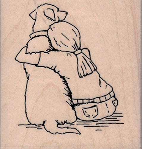 Impression Obsession D23002 My Best Friend Dog Wood Mounted Rubber Stamp