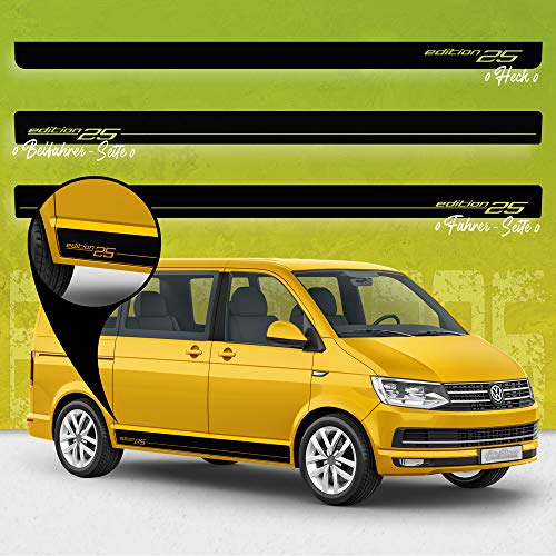 AutoDress - Juego de pegatinas para lateral de Volkswagen T4, T5 y T6, color gris metálico