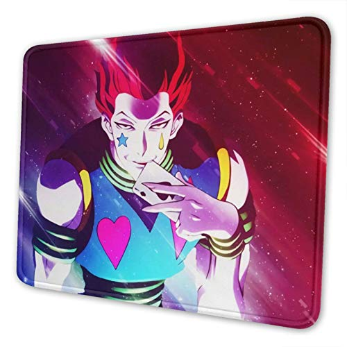 Hisoka Hunter X Hunter Gaming Mouse Pad Keyboards Mouse Mat Non-Slip Rubber Game Mousepad with Stitched Edge Wrist Rests Multifunctional Big Office Desk Pad for Pc Computer Laptop 8.3 X 10.3 in