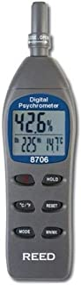REED Instruments 8706 Digital Psychrometer/Thermo-Hygrometer, (Wet Bulb, Dew Point, Temperature, Humidity)