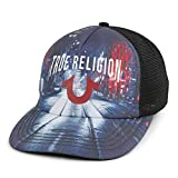 True Religion Men's Street View Trucker Cap, Black,One Size Fits All