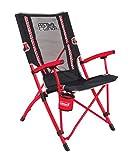 Coleman Bungee Chair Silla Plegable, Rojo/Negro, Large