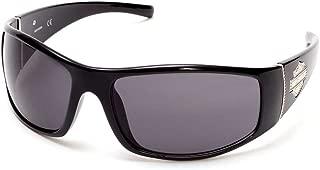 Harley-Davidson Women's Bling Bar & Shield Sunglasses, Black Frame & Smoke Lens