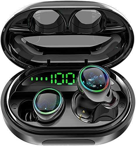 BPDD Drahtloses Bluetooth-Headset binaurales Mini-wasserdichtes In-Ear-Bluetooth-Headset mit großer Kapazität und großem Ladefach
