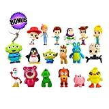 Toy Story Action Figures – Set of 17 Mini Figurines for Kids – Collectible Toy Store Cake Toppers – Great Party Favors for Toddlers – Action Figure Set with Keychain – Toy Story Birthday Supplies
