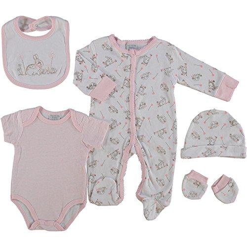 DAISYBLUEBELLE - Ensemble - Bébé (Fille) 0 à 24 Mois Pink Cute Bunny - - 6 Mois