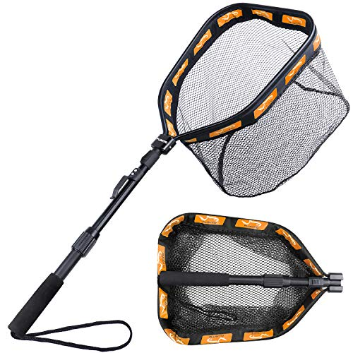 PLUSINNO Floating Fishing Net for Steelhead, Salmon, Fly, Kayak,...