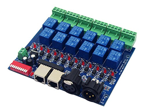 12 Channel 10A DMX512 Controller Relay Switch Converter DMX Dimmer 12CH Relay Control