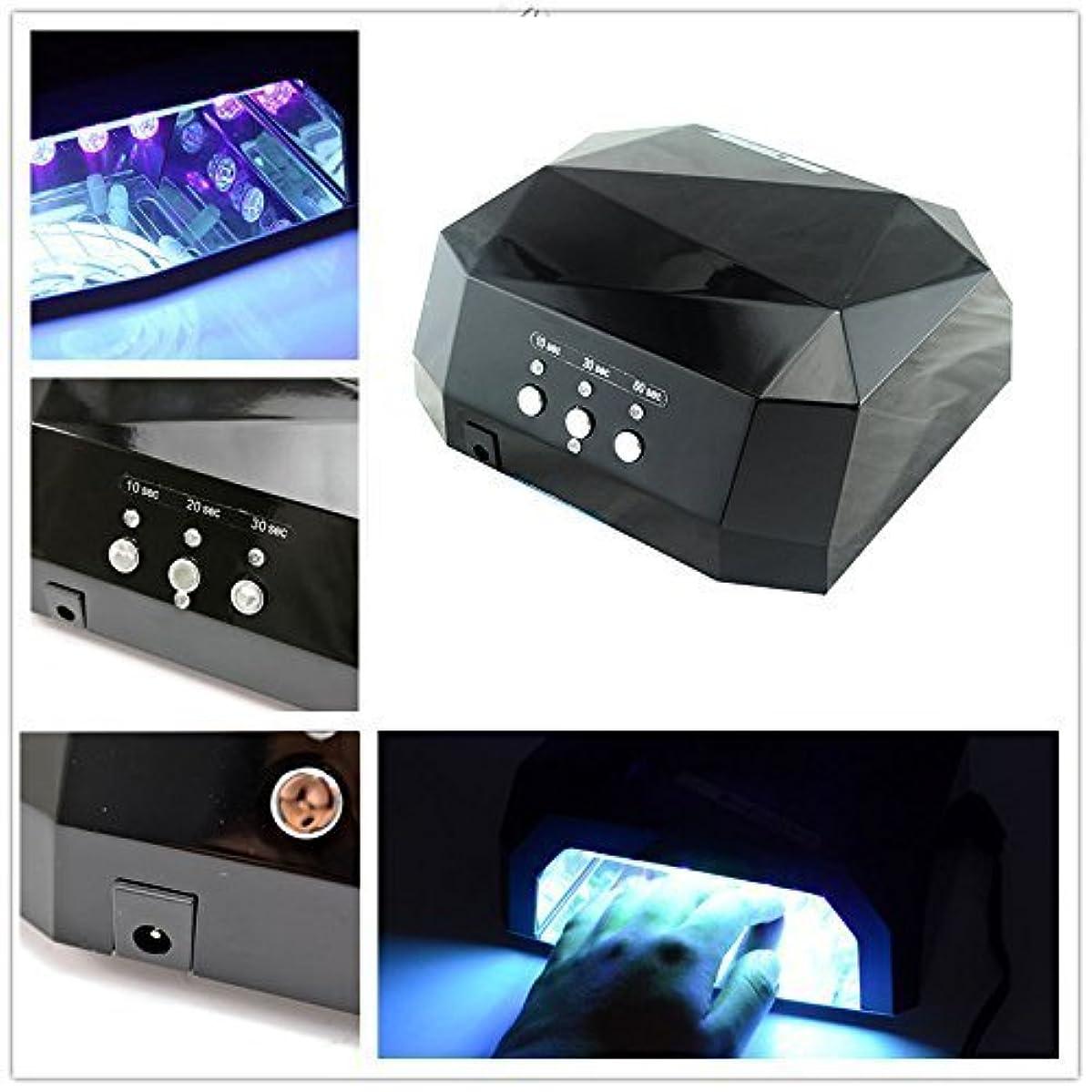 機関車キャンバスマイクGearmax?CCFL&LED ライト 36W ハイパワー ネイルライト ブラック