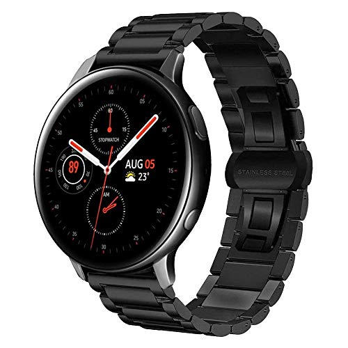 MroTech Correa Acero Compatible para Samsung Galaxy Watch 42mm/Active/Active2 40mm 44mm/Gear Sport/S2...