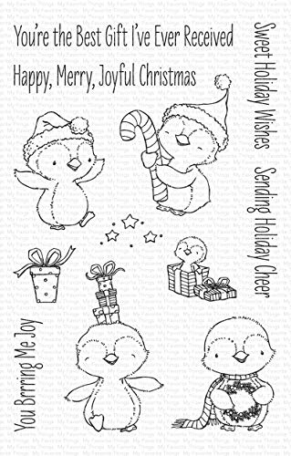 """My Favorite Things Stacey Yacula Stamps 4""""X6""""-Sweet Holiday Penguins"""