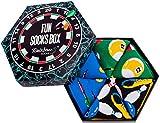 Rainbow Socks - Hombre Mujer Fun Socks Box Regalo - 3 Pares - Billar Bolos Dardos - Talla 41-46