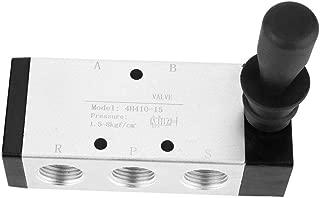 Manual Valve, Pneumatic Control Tool 5 Port 2 Position Hand Lever Valve 0~0.8Mpa(4H310-15)