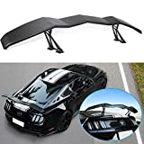 Yoursme Universal Trunk Wing Spoiler Matte Black for Ford Mustang Chevy Camaro Dodge Challenger Charger Ford Fusion Corvette C3-C8 Honda Civic High Kick V Style Rear Spoiler Wing Tail Lid (61.8inches)