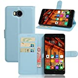 JARNING Elephone P9000 Lite Case Leather Wallet Flip Cover with Card Slots Magnetic Closure Kickstand Slim Premium Phone Case for Elephone P9000 Lite-Blue