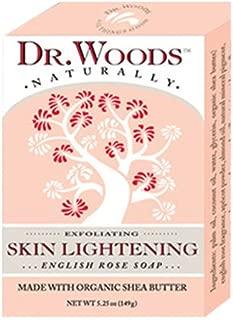 Dr. Woods Naturally Bar Soap Skin Lightening English Rose - 5.25 oz