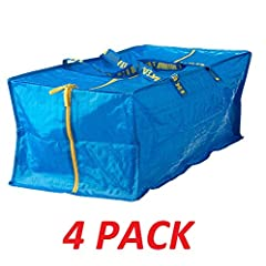 "Frakta Storage Bag blue with yellow zippers Length: 28 "" Depth: 13 "" Height: 11 "" Max. load: 55 lb Volume: 20 gallon; Item number 901.491.48"