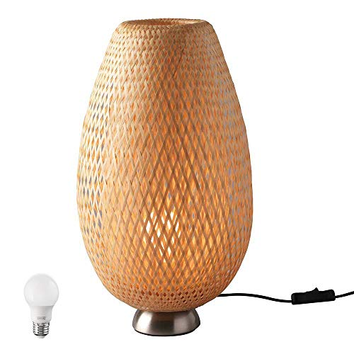 IKEA Boja - Lámpara de mesa con bombilla LED E26 (incluye lámpara de mesa Boja y bombilla LED E26)