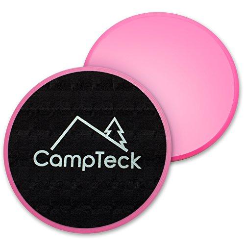 CampTeck U6575 Discos Deslizantes Doble Cara Disco Abdominales para Abs Entrenamiento, Hogar, Yoga - para Uso en Alfombra y Pisos Duros - 2pz - Rosa
